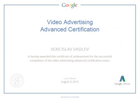 Video Advertising Advanced Certification
